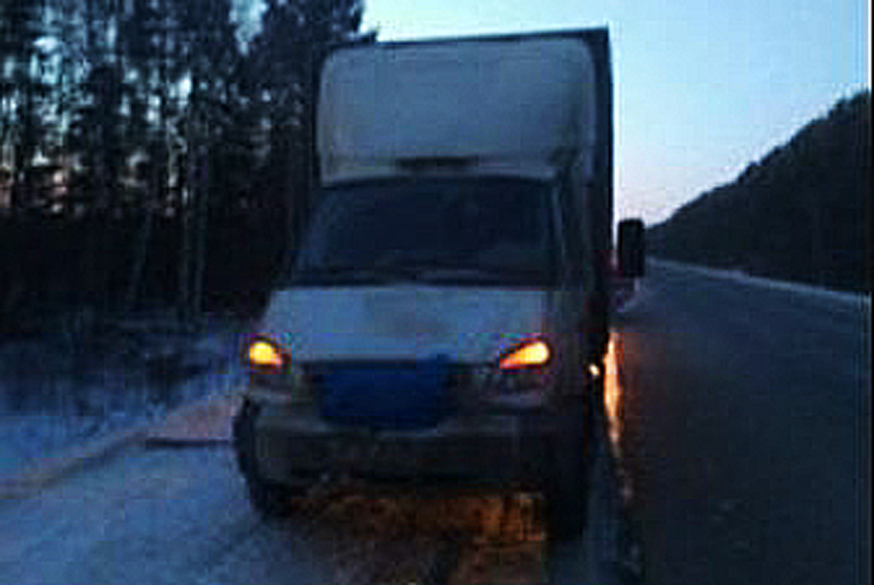 Автоинспекторы недали замерзнуть шоферу сломавшейся фуры